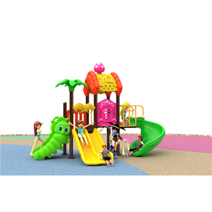 New Children Plastic Outdoor Playground Equipment Amusement Park Toy Outside Plastic Playground Slide