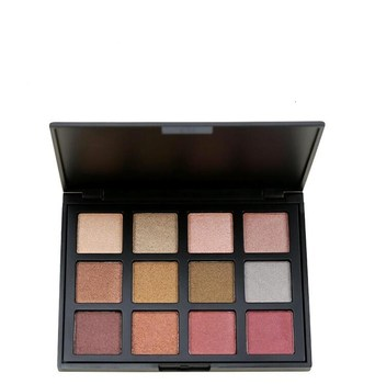 OEM Private Label 12 color eye shadow velvet texture peach makeup Palette