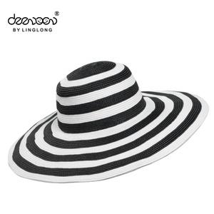 c84954e3a6a Wholesale Wide Brim Beach hat Summer Women Hat Sun Beach Straw Hat