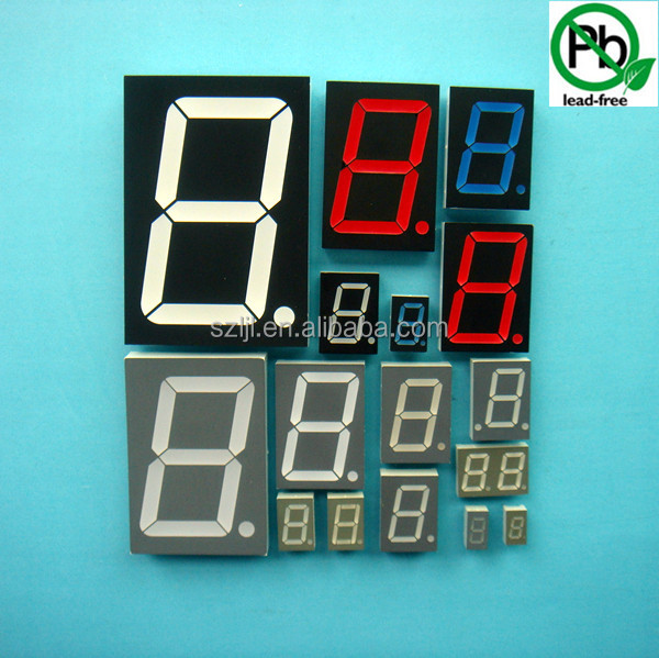 Different Size And Color Available Single Digit 7 Segment Led ...