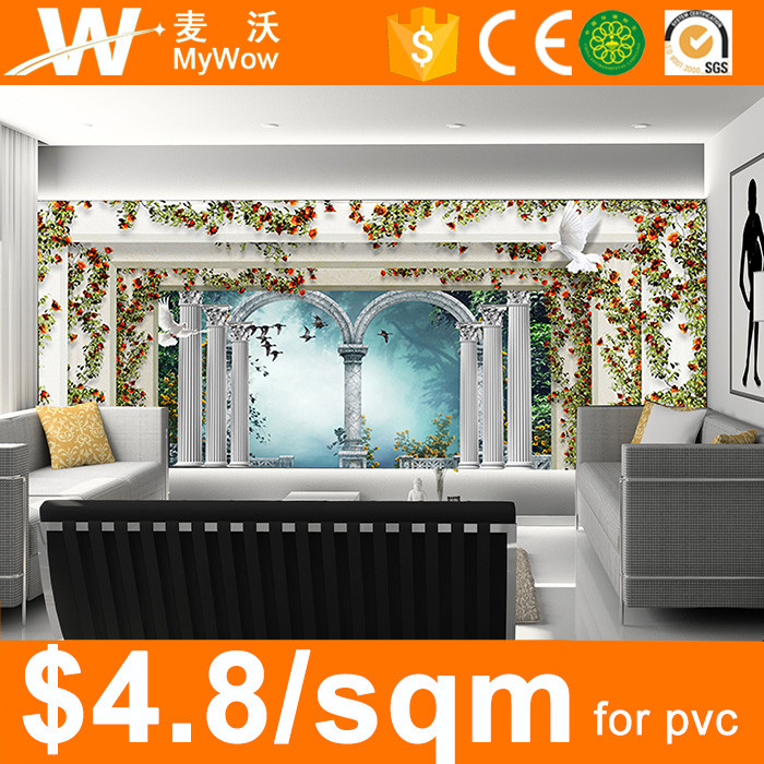 [SW-2939] With Flower Design Fairy Tale Baby Room Wallpaper 3D Wall Mural