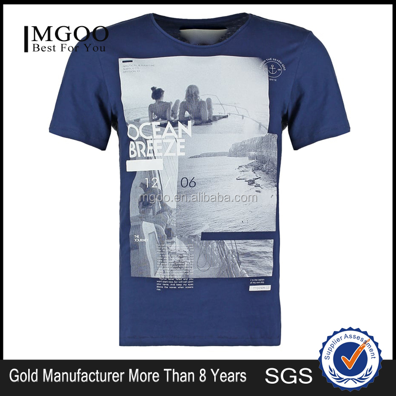 MGOO Vintage Washed Blank T Shirts With Print Scoop Neck T Shirt Printed Logo Sublimation Custom Clothings