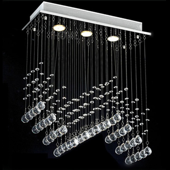 decoration lights with crystal droplets