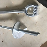 Helix Earth screw anchors hot dip galvanized solid Rod
