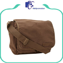 Mens fashion simple canvas messenger shoulder bag