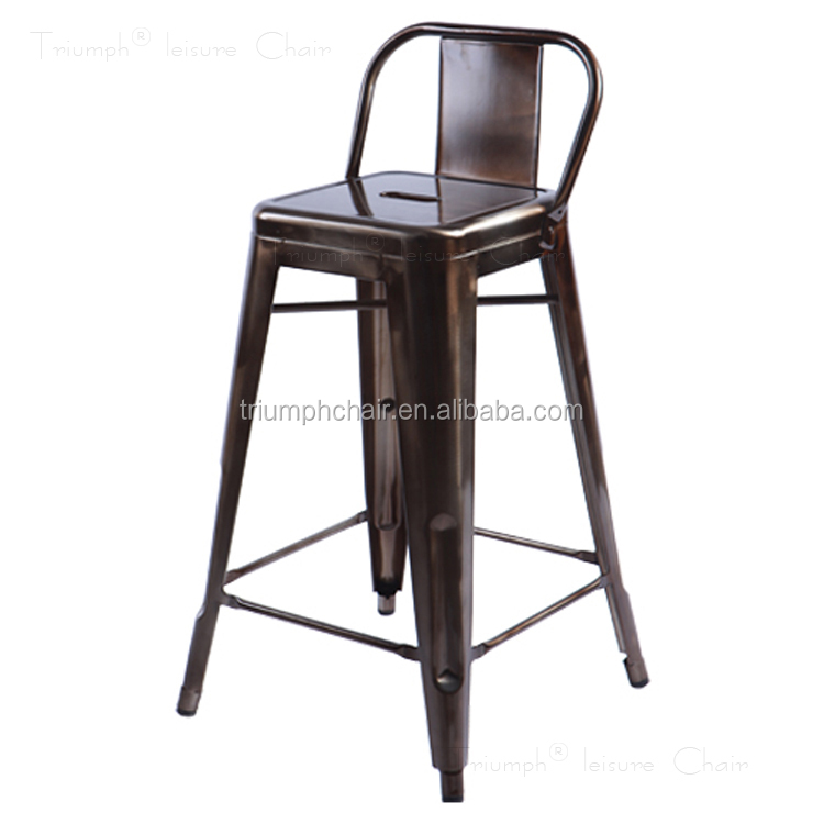 Triumph high quality metal outdoor bar stools antique - Chaise haute aluminium ...
