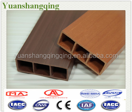 WPC square timber home decking wooden decorative partition wall