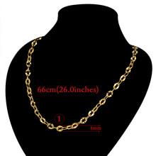 2 мм мини двухцветная цепочка из нержавеющей стали, ожерелье для женщин, женский воротник золотого цвета, ожерелье, модные ювелирные изделия...(Китай)