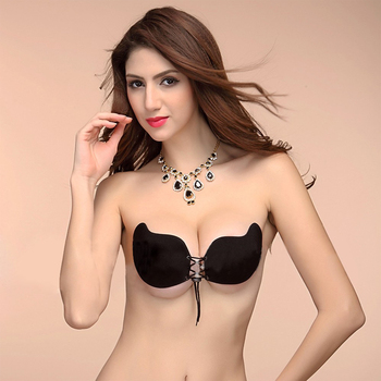 826e32bde129d Sexy Women Strapless Bra Invisible Push Up Bra Mang Shape Self-Adhesive  Silicone Bust Front