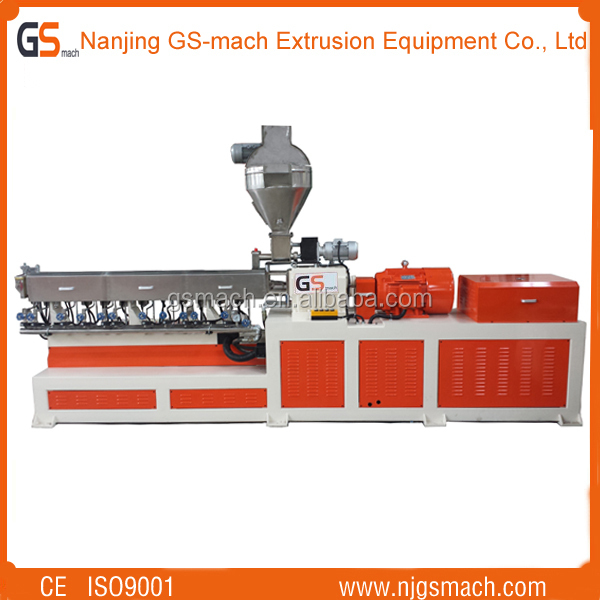 High Quality GS65 Twin Screw Extruder pet recycling flakes to granules machine