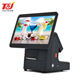 Factory price 14.1 inch windows pos machine all in one with 80mm printer