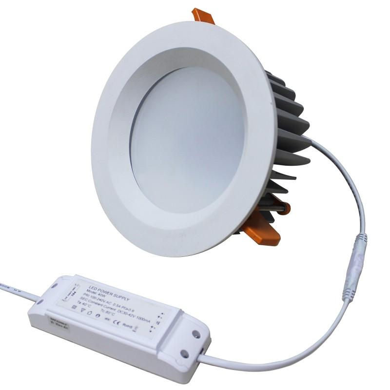 מסחרי תקרת תאורת smd ניתן לעמעום שקוע led downlight 10w 15w 25w 40w 60w