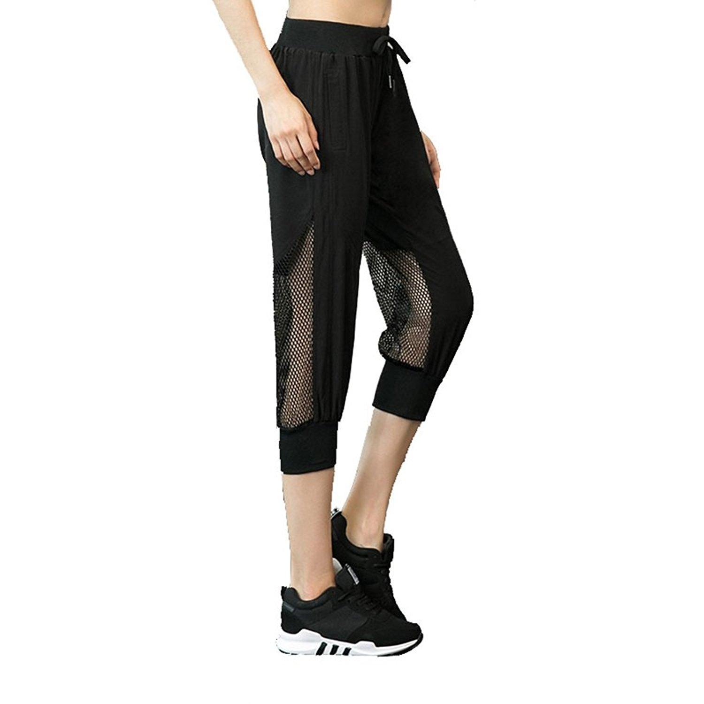 d5c57a8b0d AMSKY Men Running Workout Casual Drawstring Sweatpants Baggy Pants ...