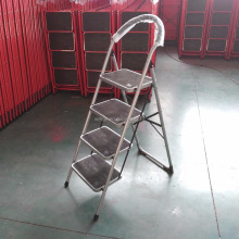 grey color India market carry me step ladder 4steps folding household steel ladder