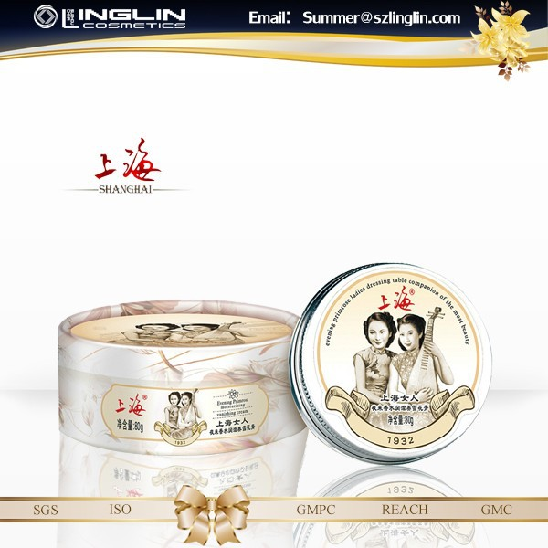 Classic Brand Shanghai 134g, Herbal evening primrose whitening cream+Solid Perfume+Pig ointment, Aloe Vera face care moisturizer
