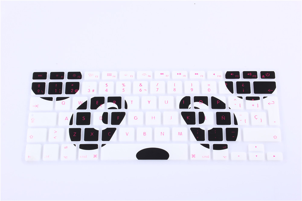 New EU UK layout Spanish Ombre Colors Keyboard Cover Silicone Skin for MacBook Pro 13 15