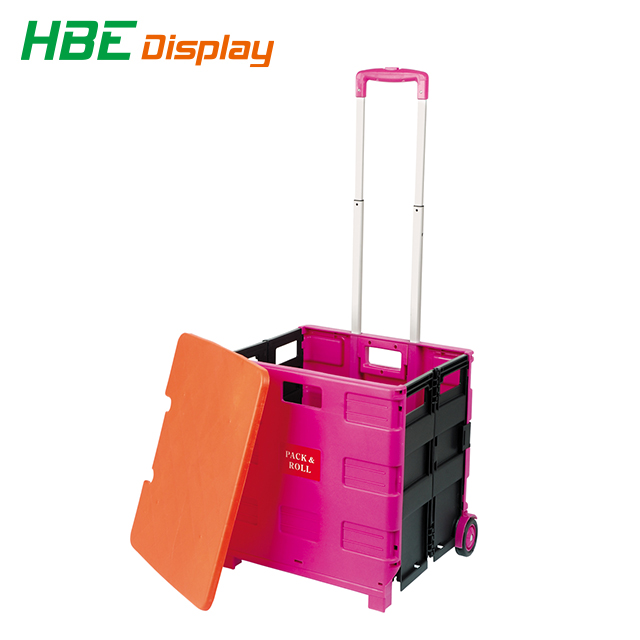 rack and roll plastic foldable luggage trolley