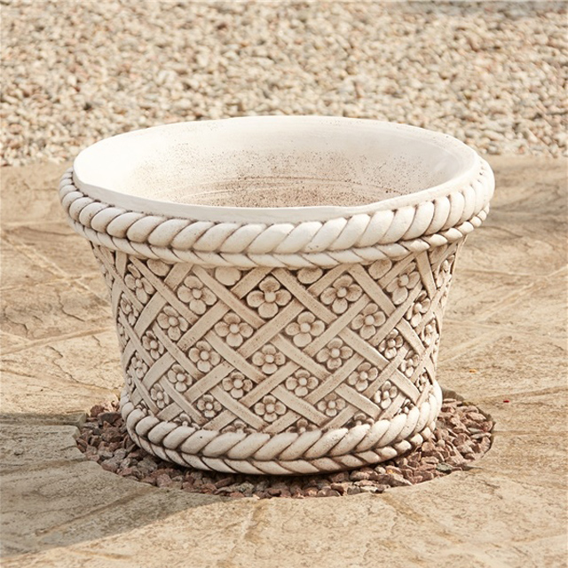 Beautiful Marble Stone Outdoor Carving Flowerpots and Vases Garden Ornaments