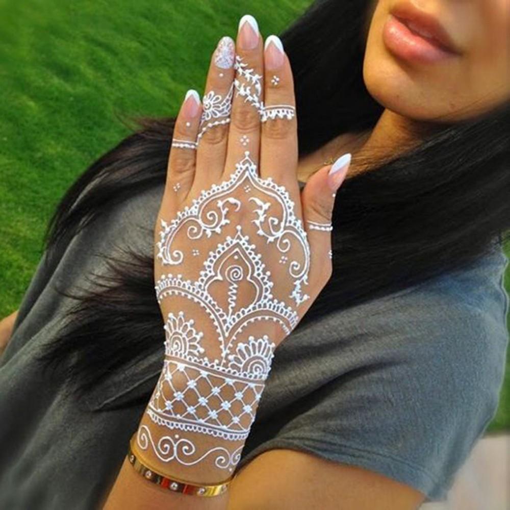 Black Henna Tattoo Paste: Mehndi Pure Black Henna Tattoo Paste Temporary Waterproof