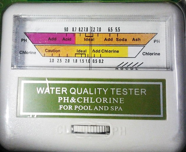 Water Quality PH/CL2 Swimming Pool Spa ph and chlorine tester PH meter with probe PC101