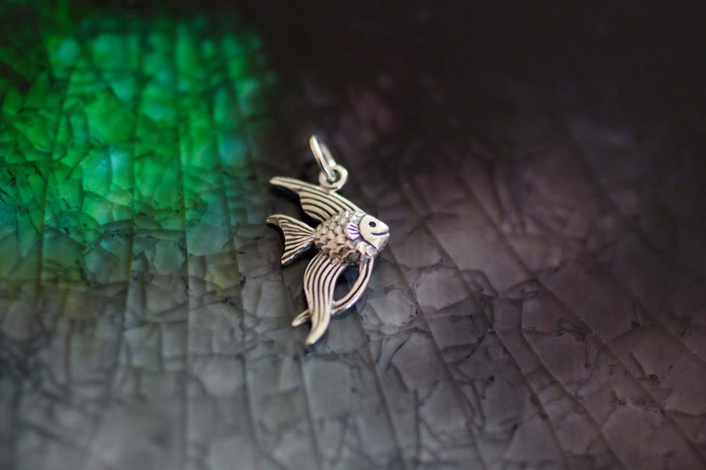 Sterling Silver Mini Angel Fish Charm