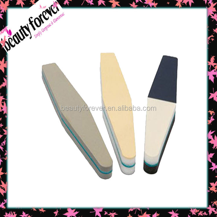 Direct factory nail art kit polisher sponge nail buffer /extra thick nail file 3 step file