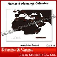 Cason Office Decoration Items LED World Time Clocks