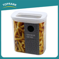 Toprank Promotional Various Durable Easy Lock Airtight Plastic Food Container 1.5L Dog Food Storage Container