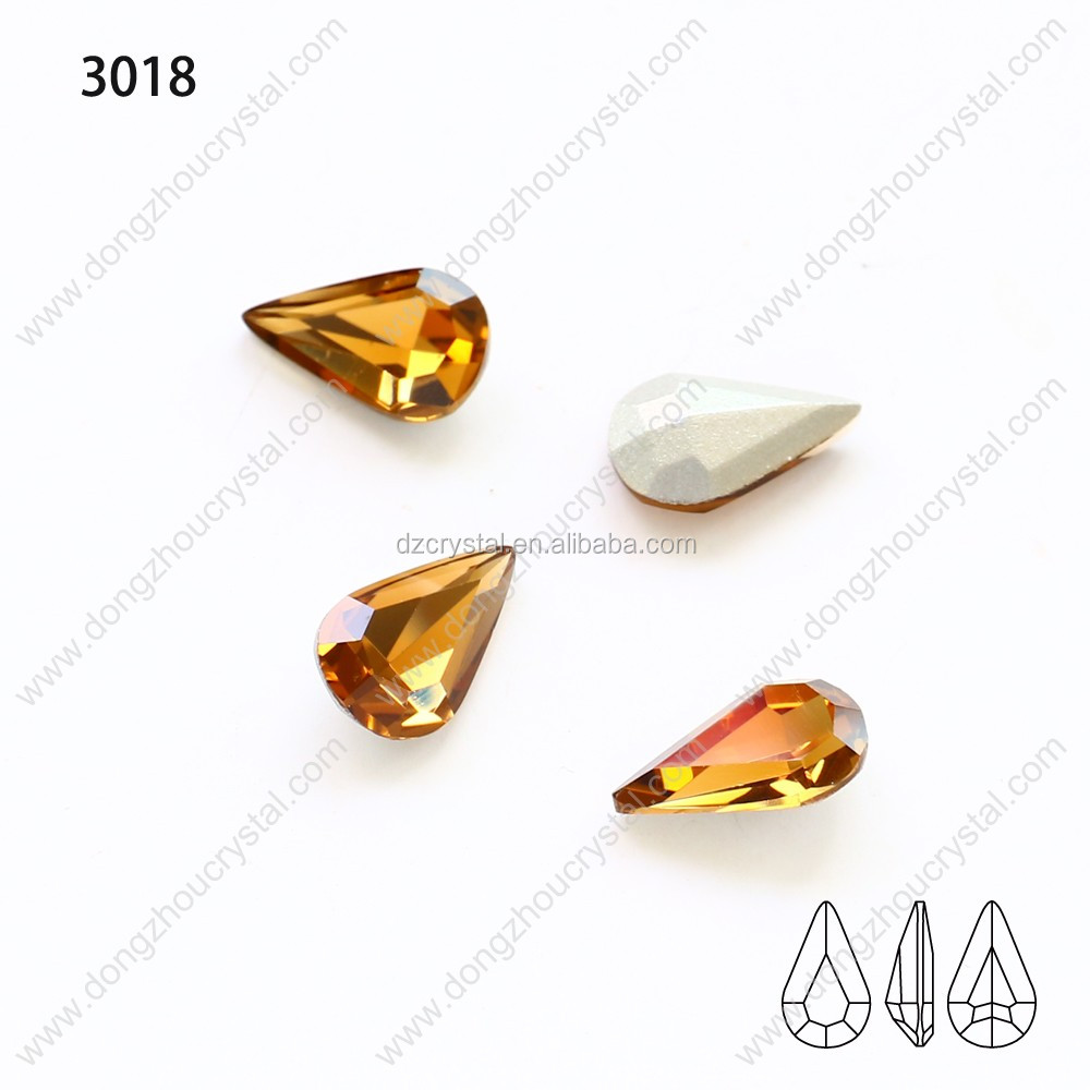 AAAAA grade water drop shape crystal fancy loose stones,rhinestones loose with point back wholesale