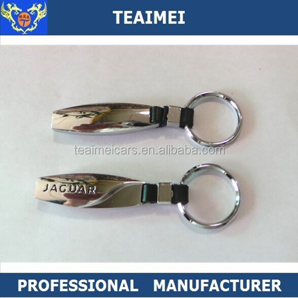 High Quality Metal Jaguar Logo Chrome Car Keychain For Key Holder