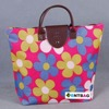 high quality polyester nylon tote reusable stock colourful ladies fashion bags on alibaba shopping website