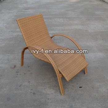 outdoor rattan chaise lounge with armrest/s shaped chaise lounge /european style chaise lounge : rattan chaise lounge chair - Sectionals, Sofas & Couches