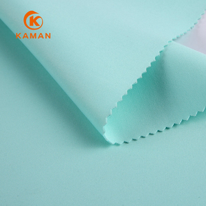 China supplier light green knit stretch jersey knit fabric 90 polyester 10 spandex fabric for cloth