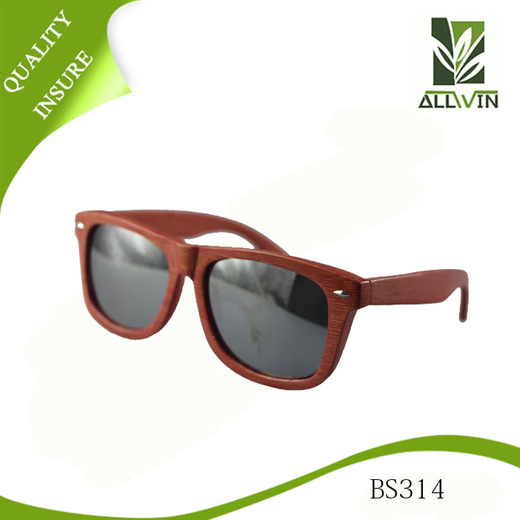 China productos de alta calidad de bambú ronda enmarcado gafas de ...