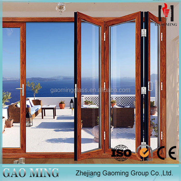 GM House Used Modern Decorative Aluminum Bifold Used Commercial Glass Doors For Sale