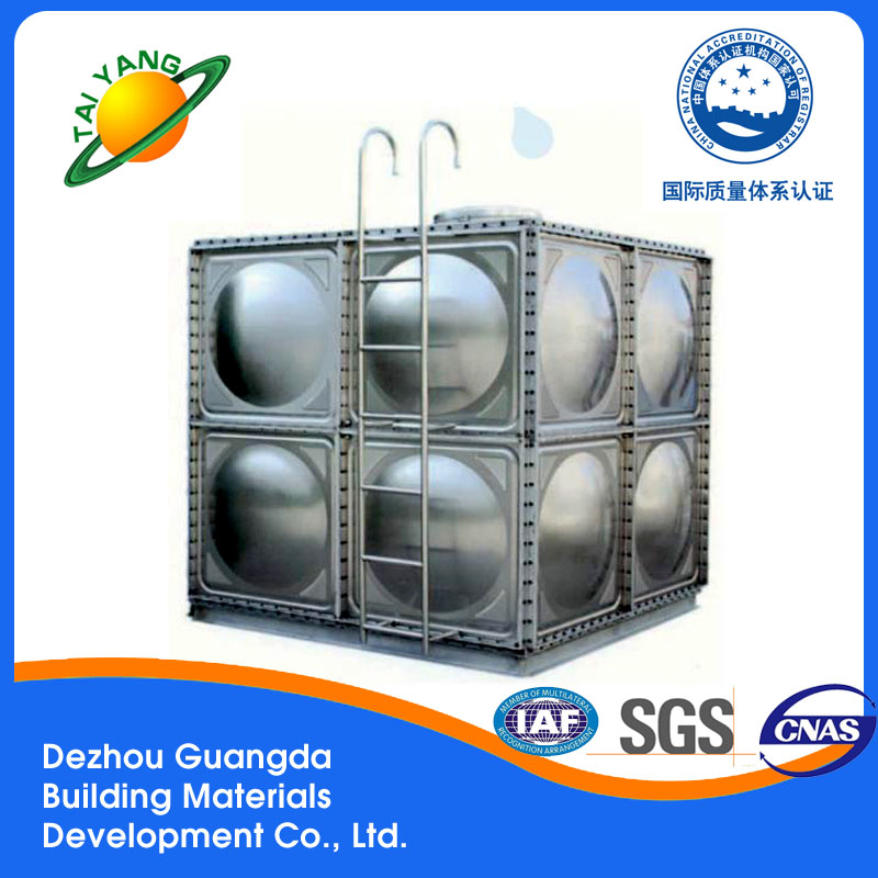 Brand new water tank with CE certificate Dezhou Guangda water storage tank stainless steel
