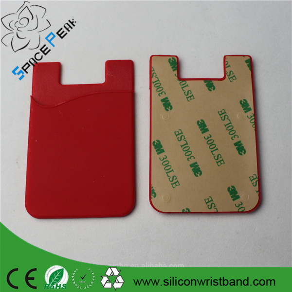 mobile phone wallet case/Smart Wallet Silicone Card Pocket/Self Adhesive Silicone Wallet Smart Phone