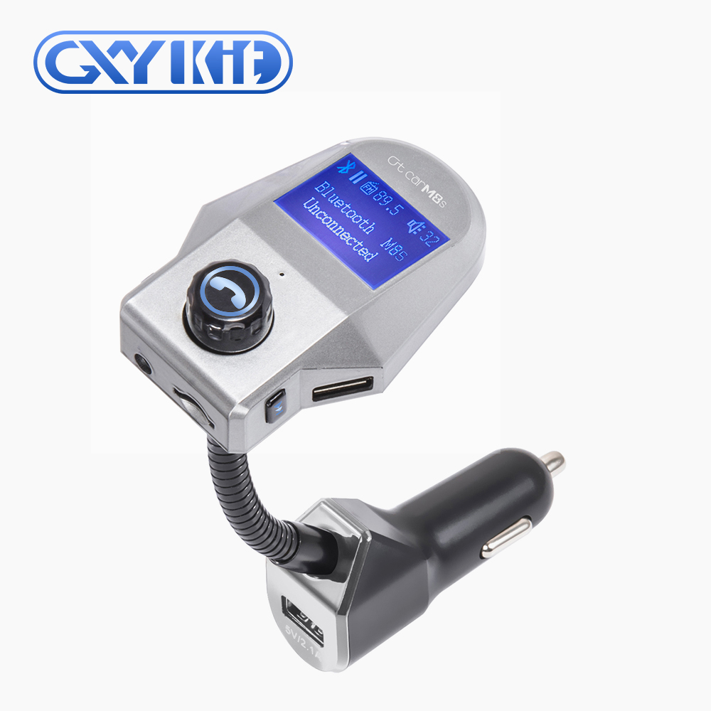GXYKIT M8 Bluetooth FM Transmitter In Car Universal Wireless Adapter Handsfree Car Kit with TF / Micro SD Card Slot and US