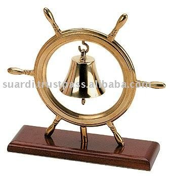 Art. 2289 Handbell with steering wheel in polished brass