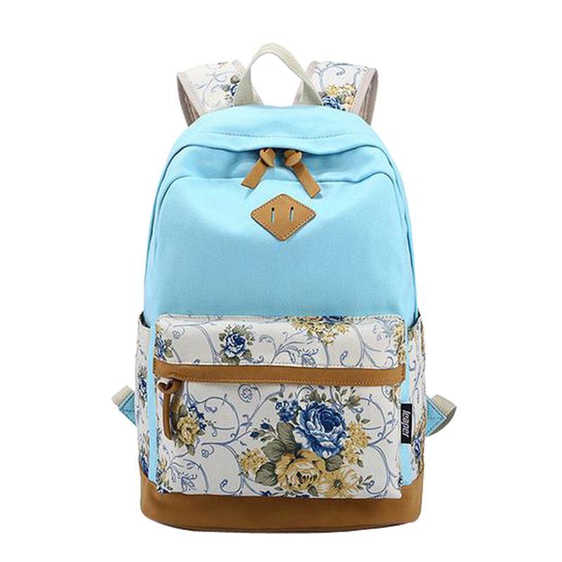 eff72cd94b30 Buy Brand Designer Floral Printing Canvas Women Backpack Fashionable Backpacks  School Backpack Bags for Teenagers Girls Mochila in Cheap Price on  m.alibaba. ...