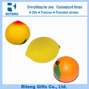 Custom Logo Imprint Fruits Stress Ball