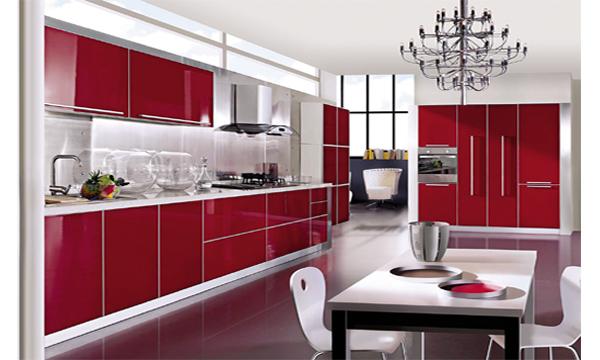 Mawar Merah Kabinet Dapur Modern Desain Lemari Rak Piring