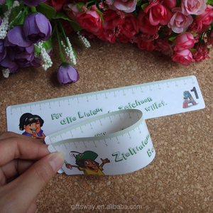 New products custom 30cm PP/pvc plastic print rulers