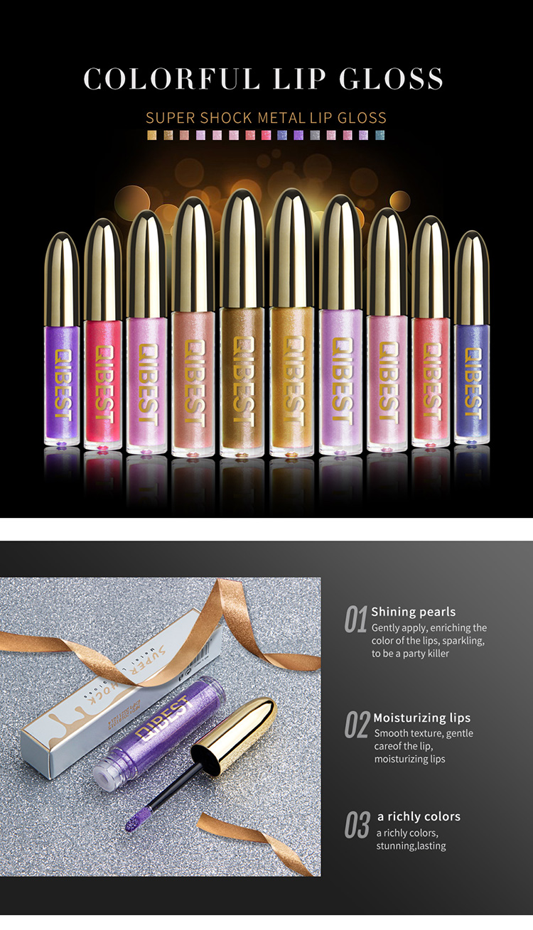 QIBEST Factory Wholesale Customized Multicolor No Brand Name Lipgloss Machen Sie Ihre eigene Handelsmarke Lipgloss