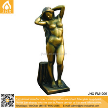 Art Deco Garden Statues Metal Craft Nude Woman Bronze Sculpture