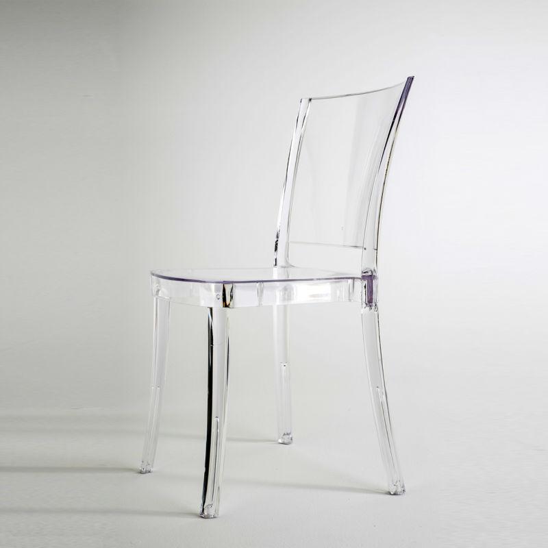 Chaise transparente en polycarbonate LUCIENNE Neutre Chaises