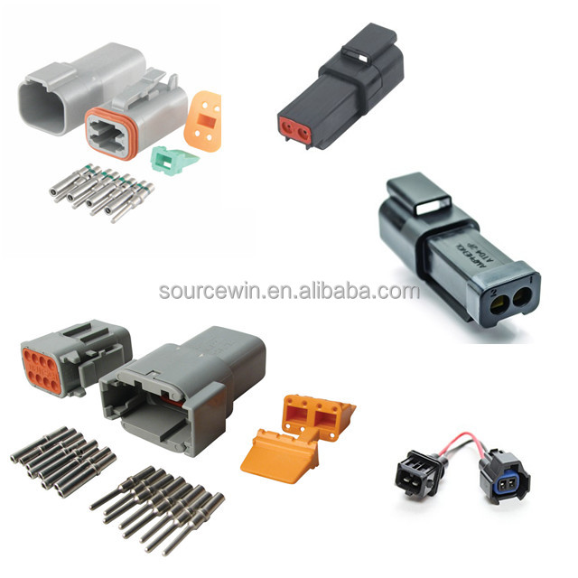 Free samples High Quality electrical car deutch connectors auto gray female male waterproof car plug connector
