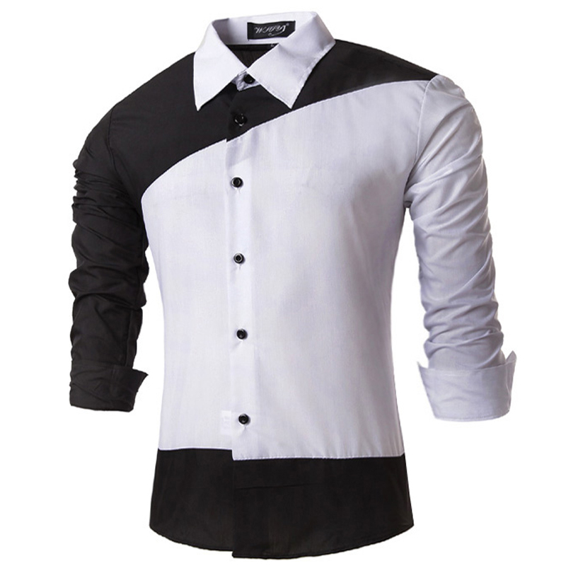 88b58475db75 Get Quotations · New 2015 High Quality Men Casual Slim Fit Shirts Cotton  Long Sleeve Turn-down Collar
