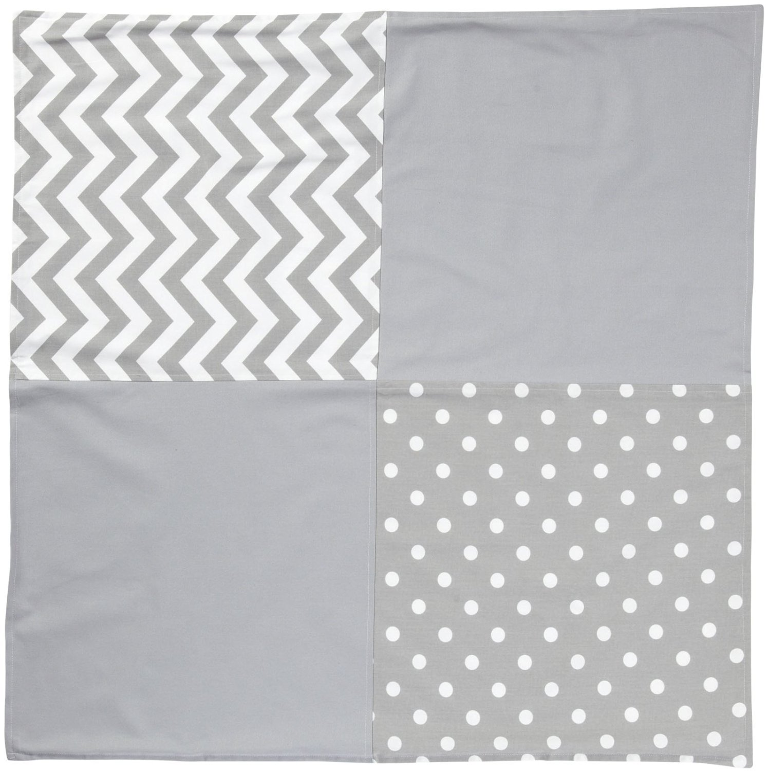 New Arrivals Zig Zag Baby Crib Blanket-White & Gray