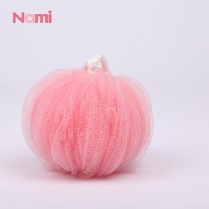 Promotional Natural Loofah Nylon Mesh Bath Sponge in Pumpkin Shape Type